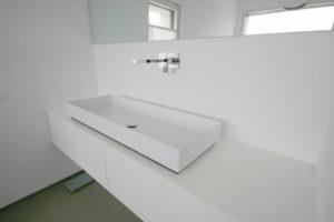 Waschtisch, Laminat, weiß